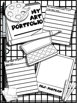 picture relating to Printable Portfolio referred to as Artwork Portfolio Deal with Printable Artwork Courses/For my clroom