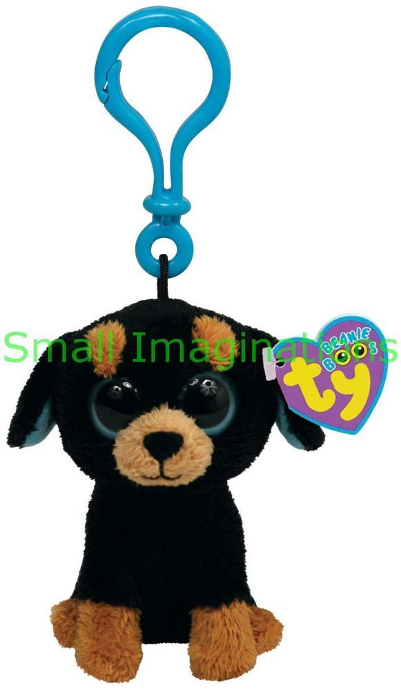 0adb72da404 Tuffy the Dog Keyring - TY Beanie Boos - Boo Plush Soft Toy Teddy Key Clip