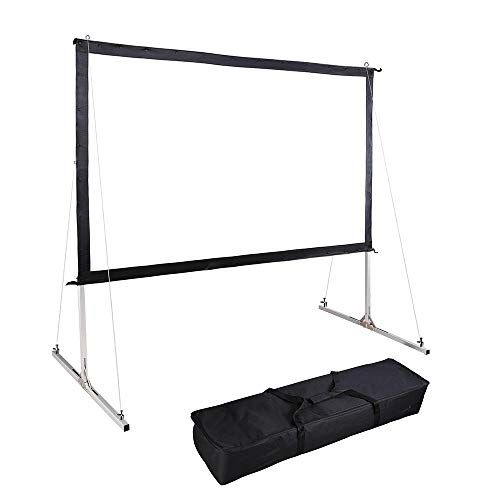 """100"""" Outdoor Projector Multi-Layer PVC Screen Portable Wi"""