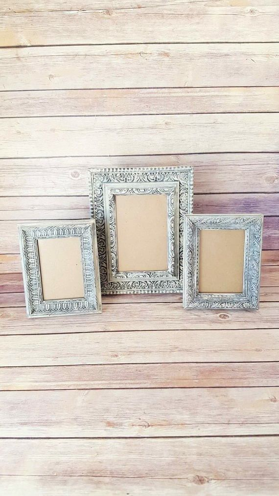 French Country Frames | Set of 3 Vintage Frames | 3 Ornate Picture ...
