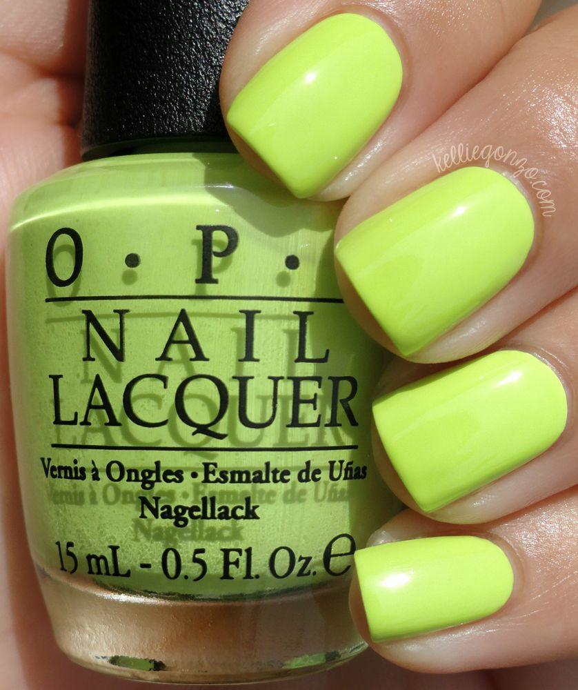 Life Gave Me Lemons, #OPI Neons Collection - yellow/green creme ...