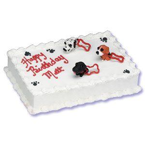 Dog Cake Decorating Set Kit Puppy Cakes Sheet
