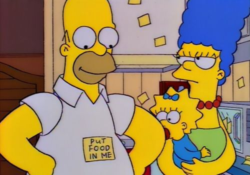 Hungry. #food #homer #simpson | The simpsons, Homer simpson, Simpsons quotes