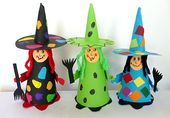 Colorful ghosts for the window - Halloween crafts - My grandchildren and me #colorful #crafts #ghosts #grandchildren #halloween #window #geisterbasteln