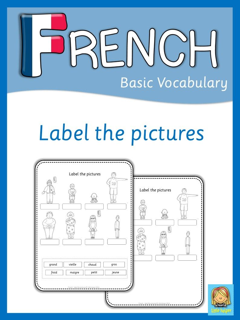 french label the pictures printable 39 s homeschooling french language lessons french. Black Bedroom Furniture Sets. Home Design Ideas