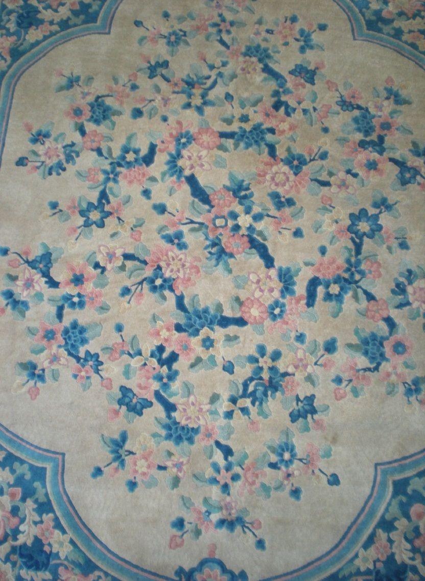 Circa 1920 S Chinese Peking Oriental Rug Beautiful Colors