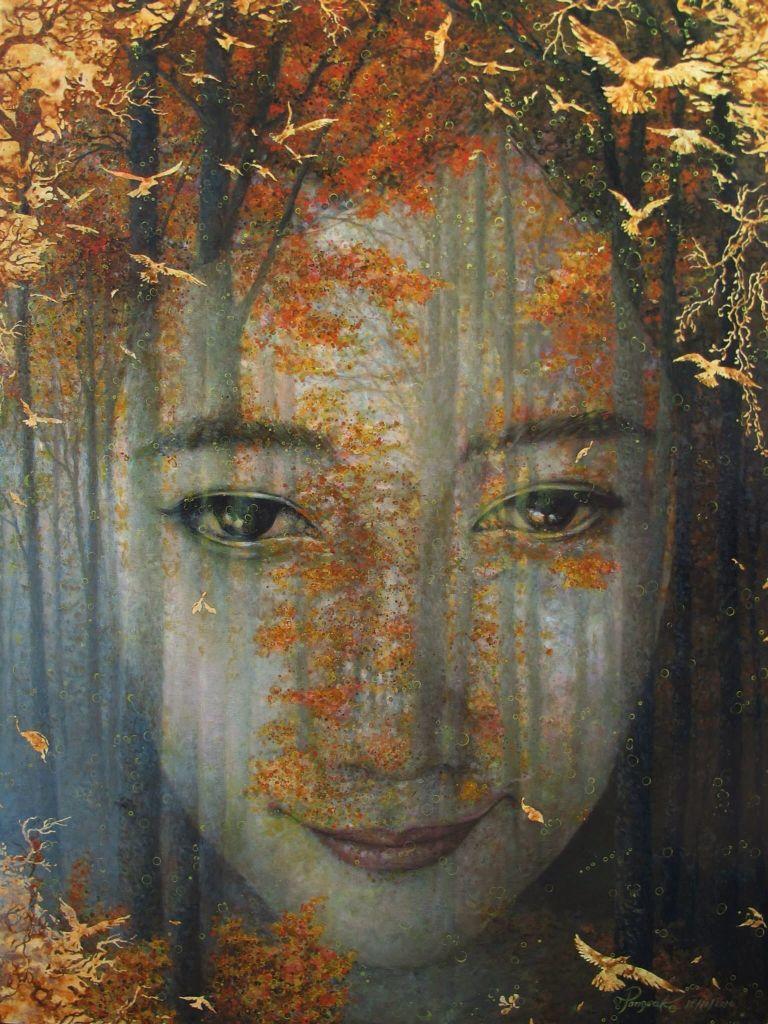 Autumn Dreams  Acrylic on canvas 1.20*90 m