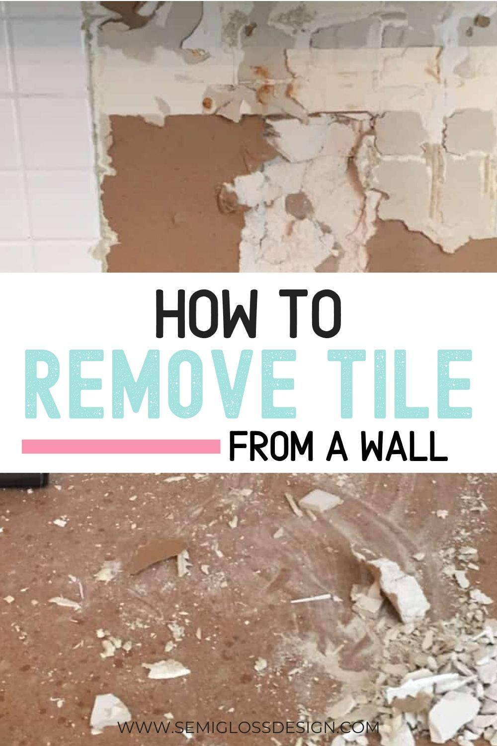 Learn how to prep a wall for a tile backsplash removing