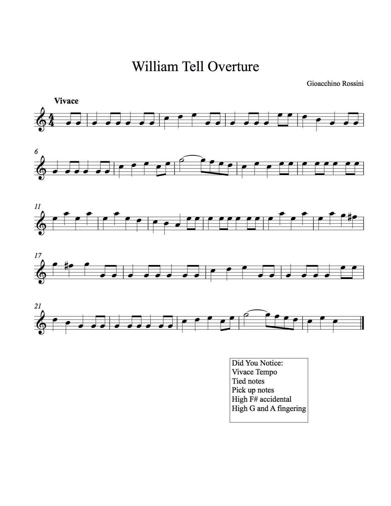 9 Free Printable Classical Melo S For Recorder