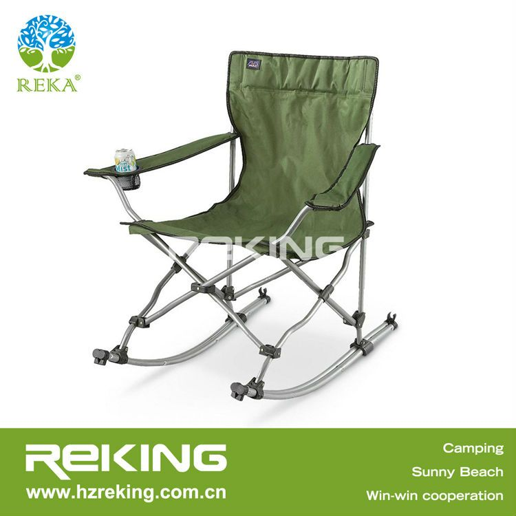 Must Have For This Summer! Fold Up Canvas Portable Metal Rocking Camp Chair