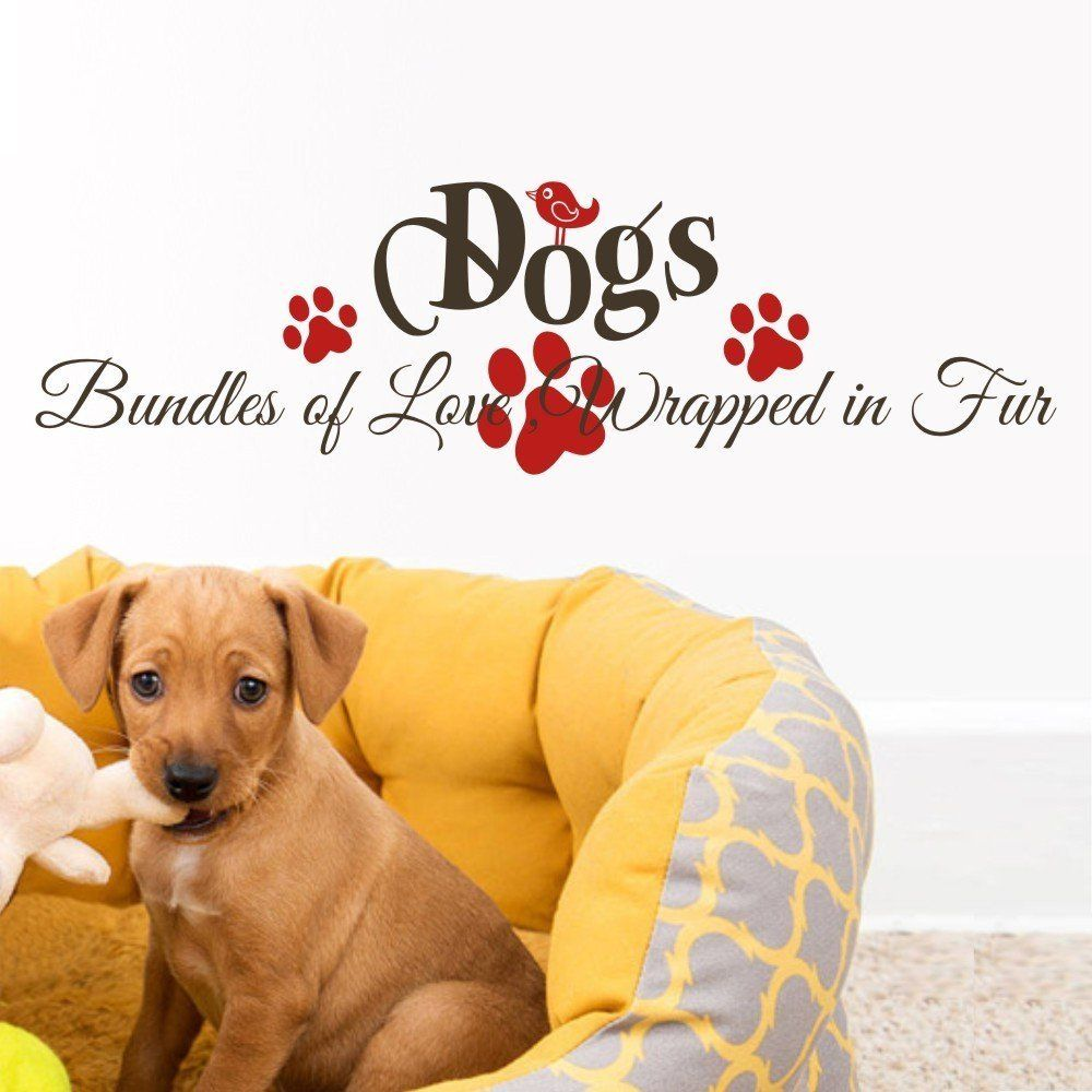 GECKOO Animal Vinyl -Bundles of Love Wrapped in Fur- Dogs Decor ...