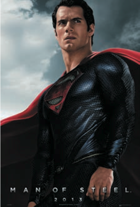 Wal Marts MAN OF STEEL Poster With Henry Cavill As Superman Better Quality