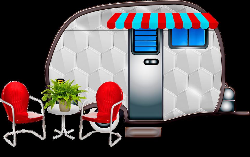Free Image On Pixabay Caravan Travel Trailer Flamingos Caravan Travel Free Travel