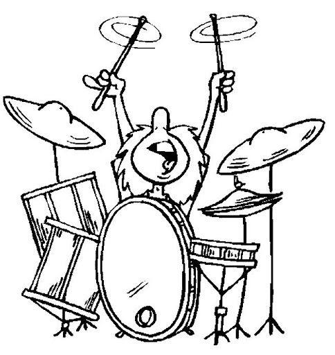 Los Instrumentos De Percusion Colorear Buscar Con Google Drummer Guitar Art Comic Drawing