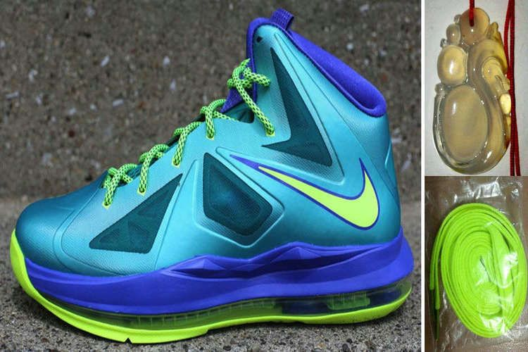 finest selection 96975 15e0f 20% off Again to Buy Nike LeBron 10 GS Sport Turquoise Violet Force Volt  with