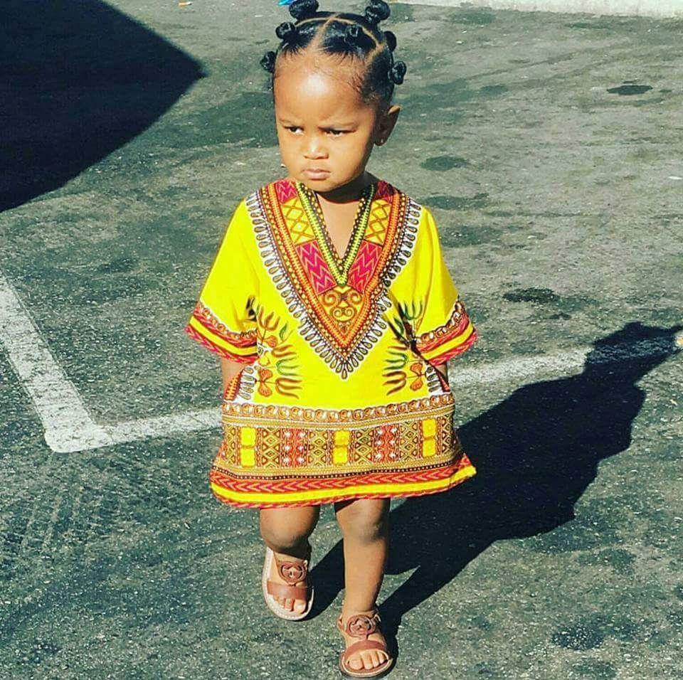 Tuniques Dashiki Vlisco Unisex Pour Enfants En Wax Pagne Africain Mode Filles Par