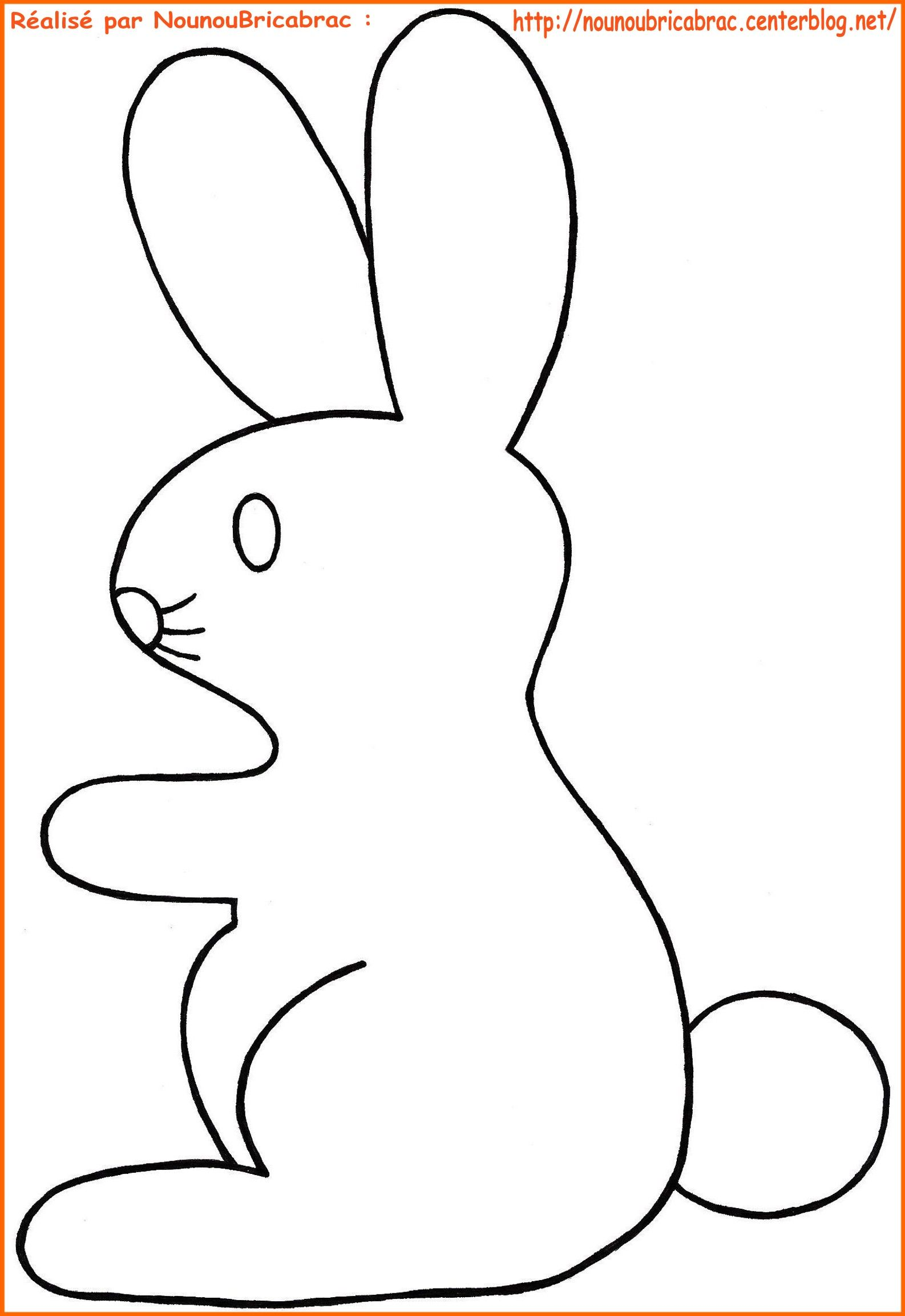 Lapin de p ques colorier paques coloriage - Dessin lapin paques ...