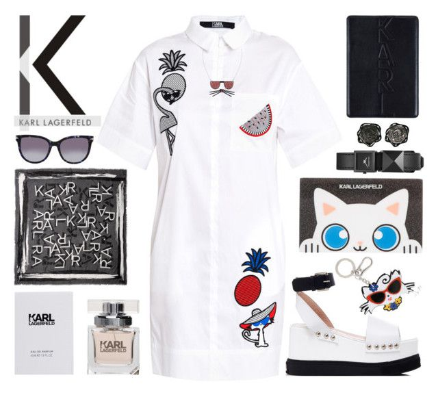 """K A R L"" by rasa-j ❤ liked on Polyvore featuring Karl Lagerfeld, womenfashion, karllagerfeld and summer2016"