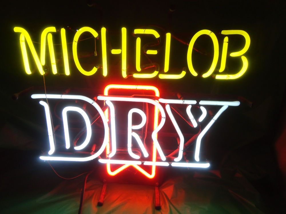 Michelob dry anheuser busch beer light up neon home bar sign vintage michelob dry anheuser busch beer light up neon home bar sign vintage works find me aloadofball Choice Image