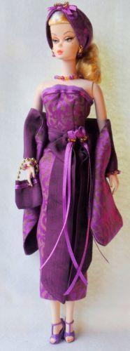 OOAK-Silkstone-Vintage-Barbie-FR-Fashion-12pc-Purple-Prowll-Clares-Couture