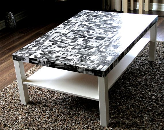 Customized Photo Memory Coffee Table (Bespoke Serendipity Furniture). $295.00, via Etsy.