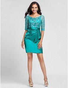 Vestido verde jade corto