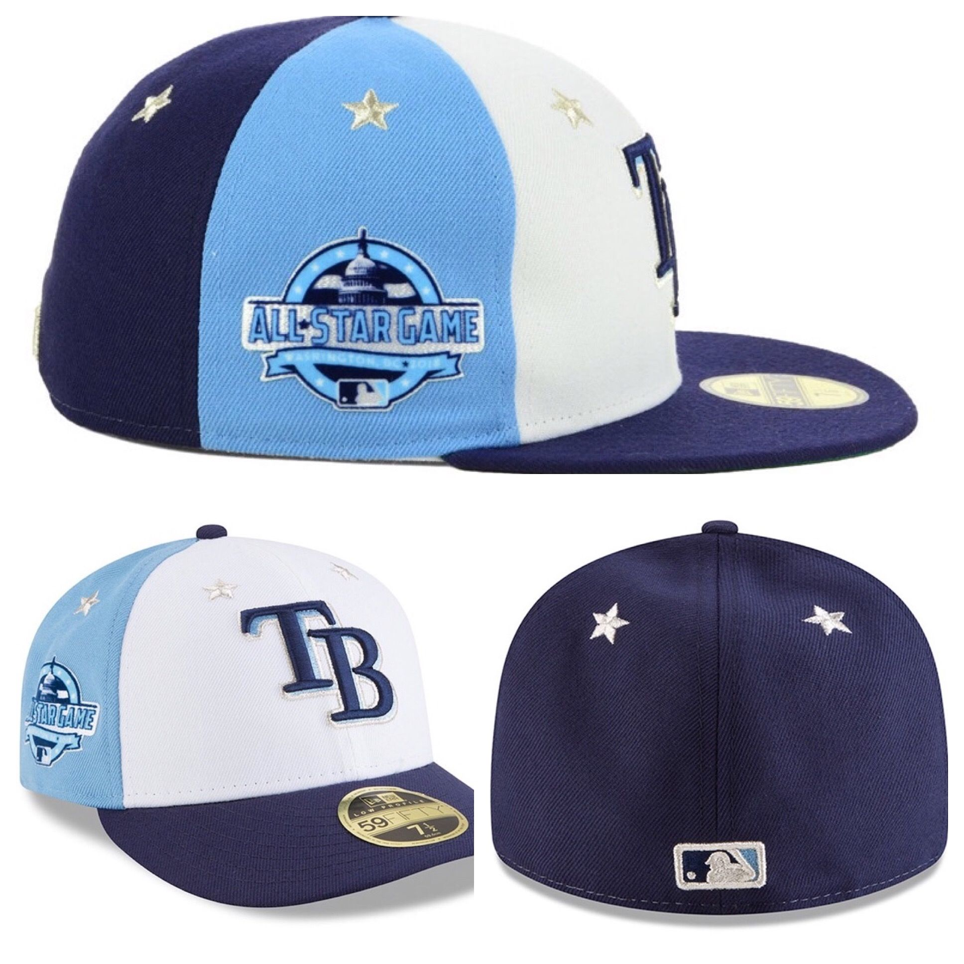 various colors 7d1a3 4347c Tampa Bay Rays New Era 2018 MLB All Star Game Patch Low Profile 59FIFTY Cap