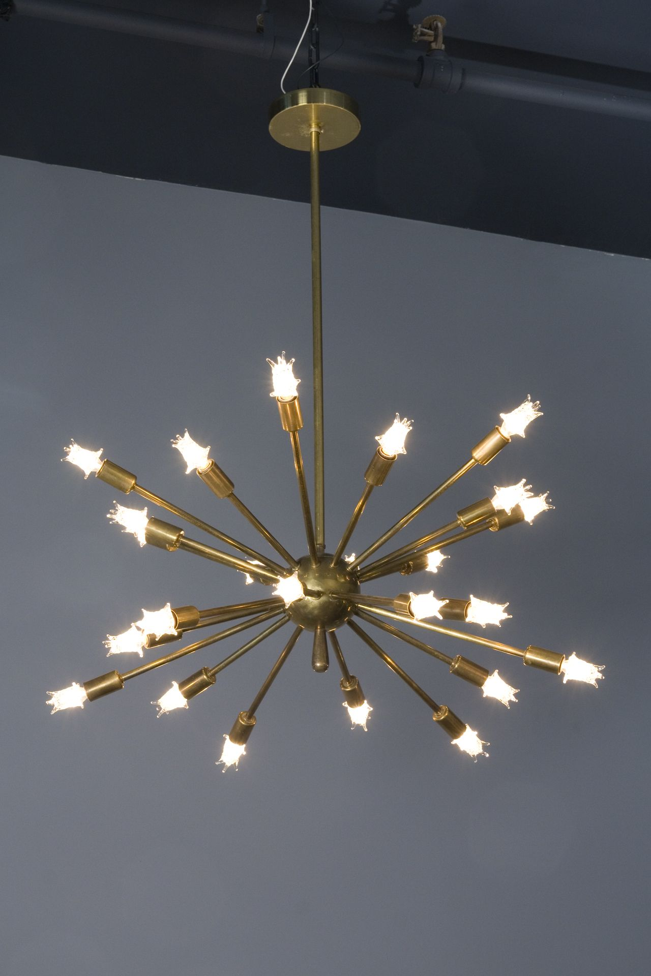 Vintage brass sputnik light fixture with correct starlight bulbs vintage brass sputnik light fixture with correct starlight bulbs arubaitofo Choice Image