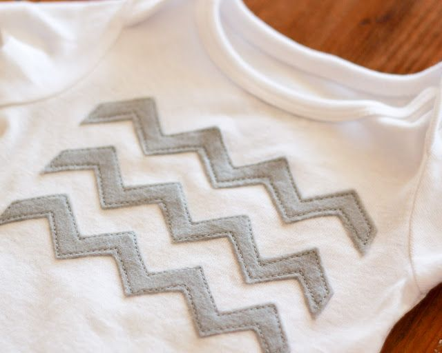 Chevron stripes applique. Cute.