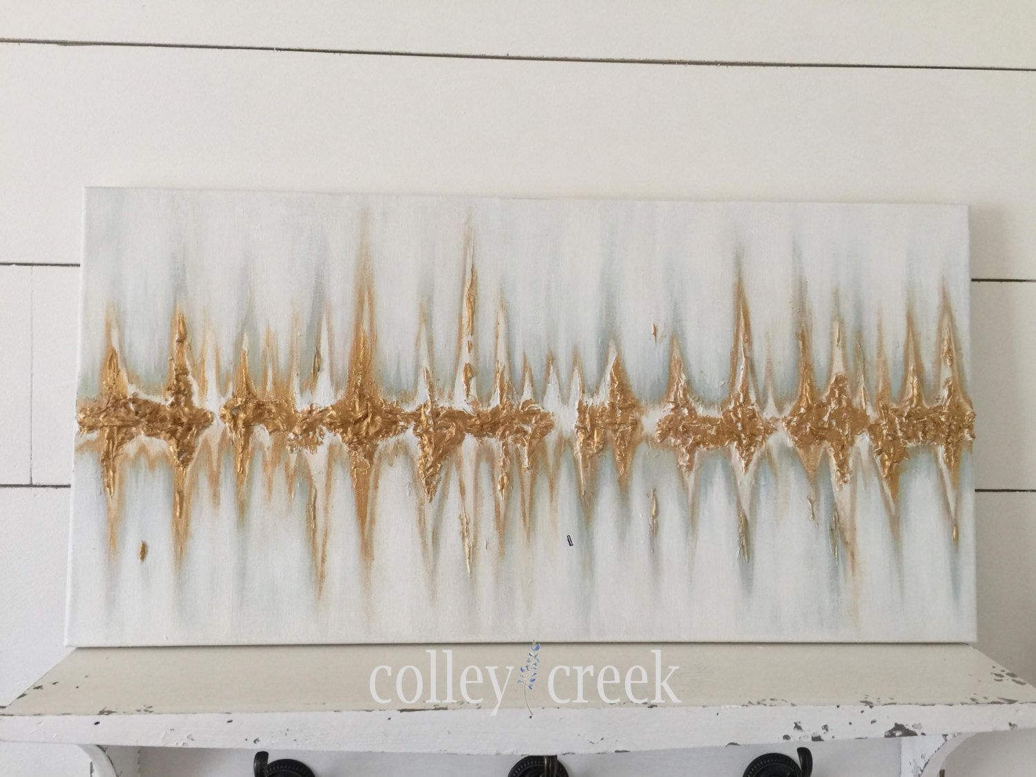 Baby bed heartbeat - Baby S First Heartbeat Painting Nursery Wall Art By Colleycreek On Etsy