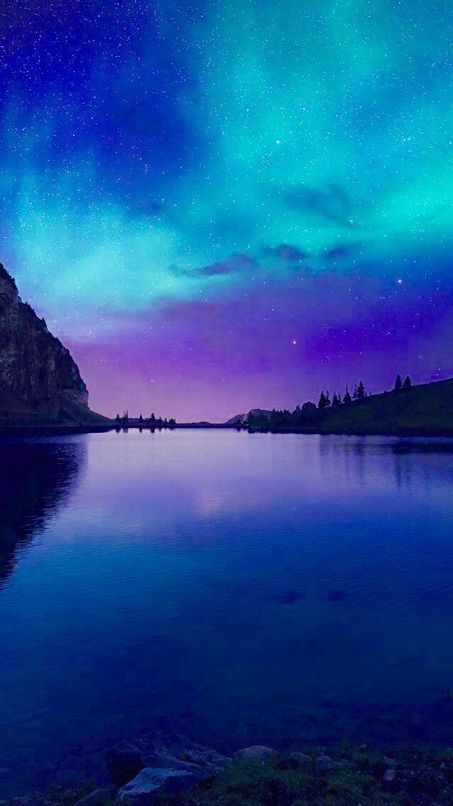 Northern Lights Beautiful Wallpapers Iphone 6 Wallpaper Nature Wallpaper