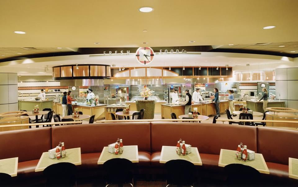 West Campus Dining Hall at Boston University. Dining