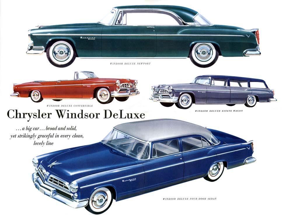 1955 Chrysler Windsor Deluxe lineup | Chrysler: 1955 & 1956 ...