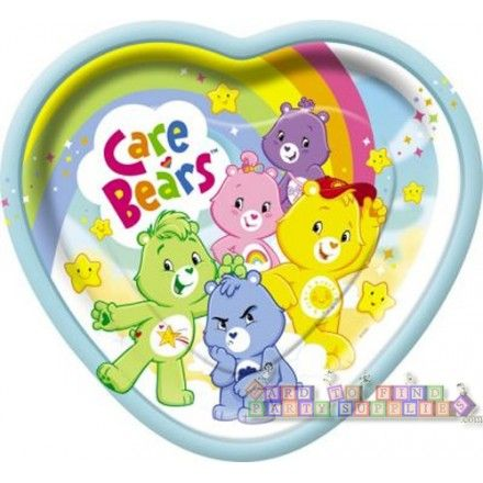 Care Bears Large Heart Shaped Paper Plates (8ct)  sc 1 st  Pinterest & Care Bears Large Heart Shaped Paper Plates (8ct) | Parties supplies ...