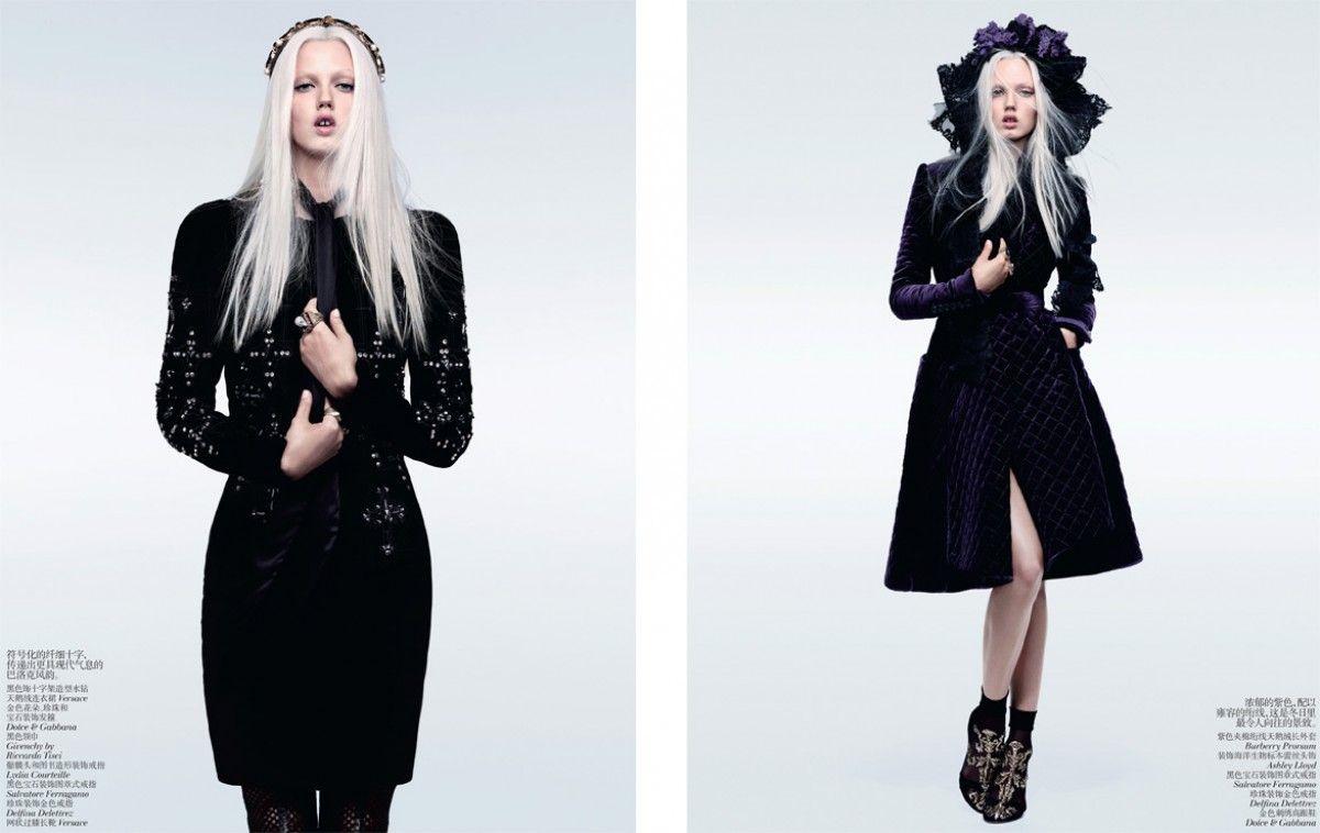Vogue China Minimal Baroque Vogue China Lindsey Wixson Vogue
