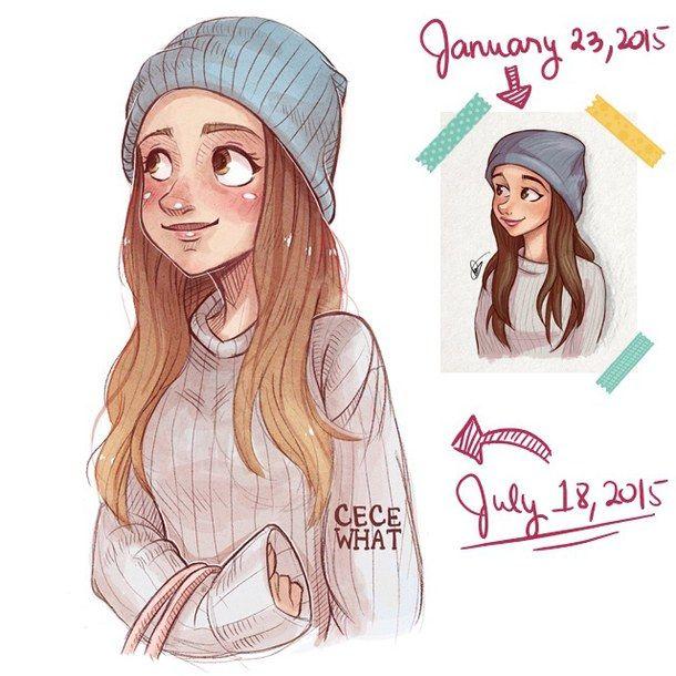Ariana Art Cartoon Cute Draw Drawing Fan Fanart Girl