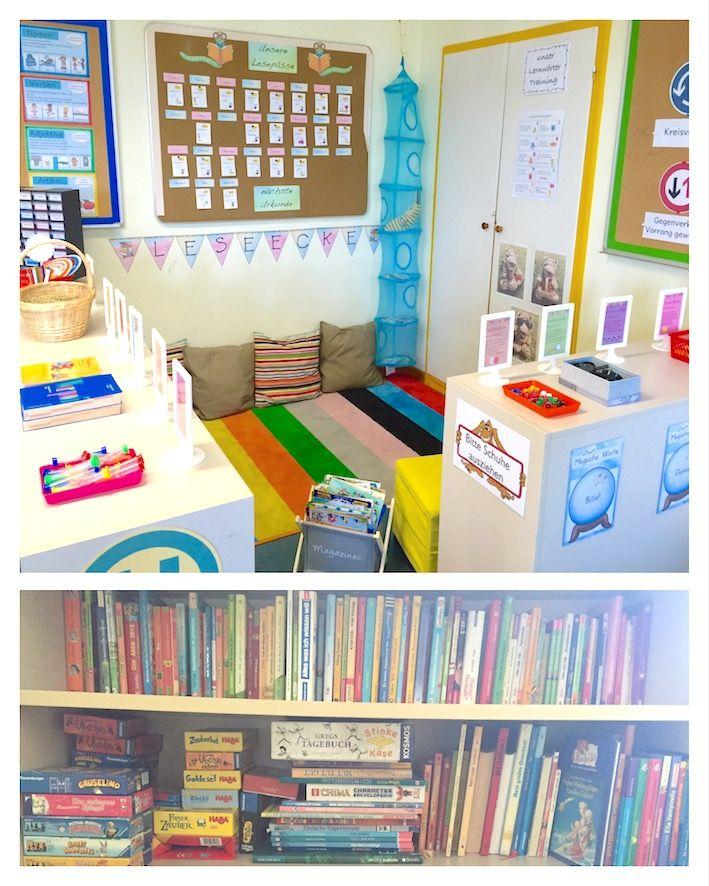 Einblick in meine leseecke in der grundschule schule for Raumgestaltung schule
