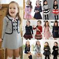 Baby Girls Kids Clothes Long Sleeve P...