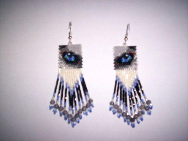 Native American Beadwork Brick Sch Patterns Free Husky Eye Delica Seed Beading Earring Pattern
