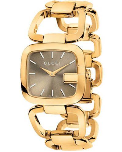 7dcd70b567b Gucci G Brown Dial Gold-tone YA125408 - Women s Watch - Watch Direct