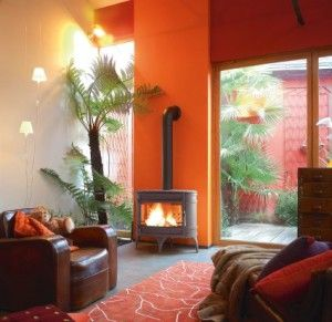 choisir couleur salon orange jaune orange pinterest salons orange couleur salon et orange. Black Bedroom Furniture Sets. Home Design Ideas