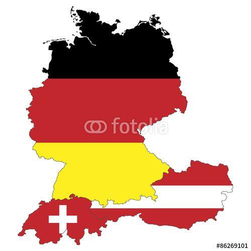 Karte Süddeutschland österreich Schweiz.Vektor Deutschland österreich Und Schweiz Als Flagge Fotolia