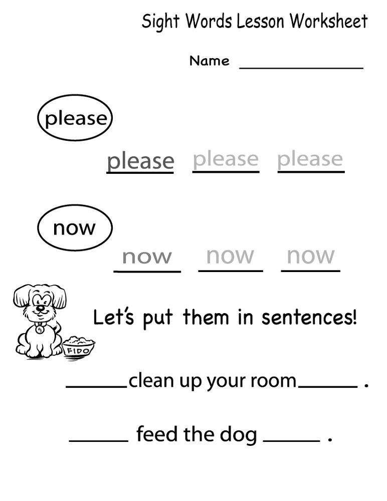 English For Kindergarten Free Worksheet First Grade Sight Words Sight Word Worksheets Kindergarten Worksheets Sight Words