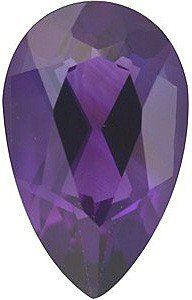 Pear Shape Genuine Amethyst Loose Gemstone, Quality Grade, AAA 0.63 carats 7.00 x 5.00 mm | Your #1 Source for Jewelry and Accessories