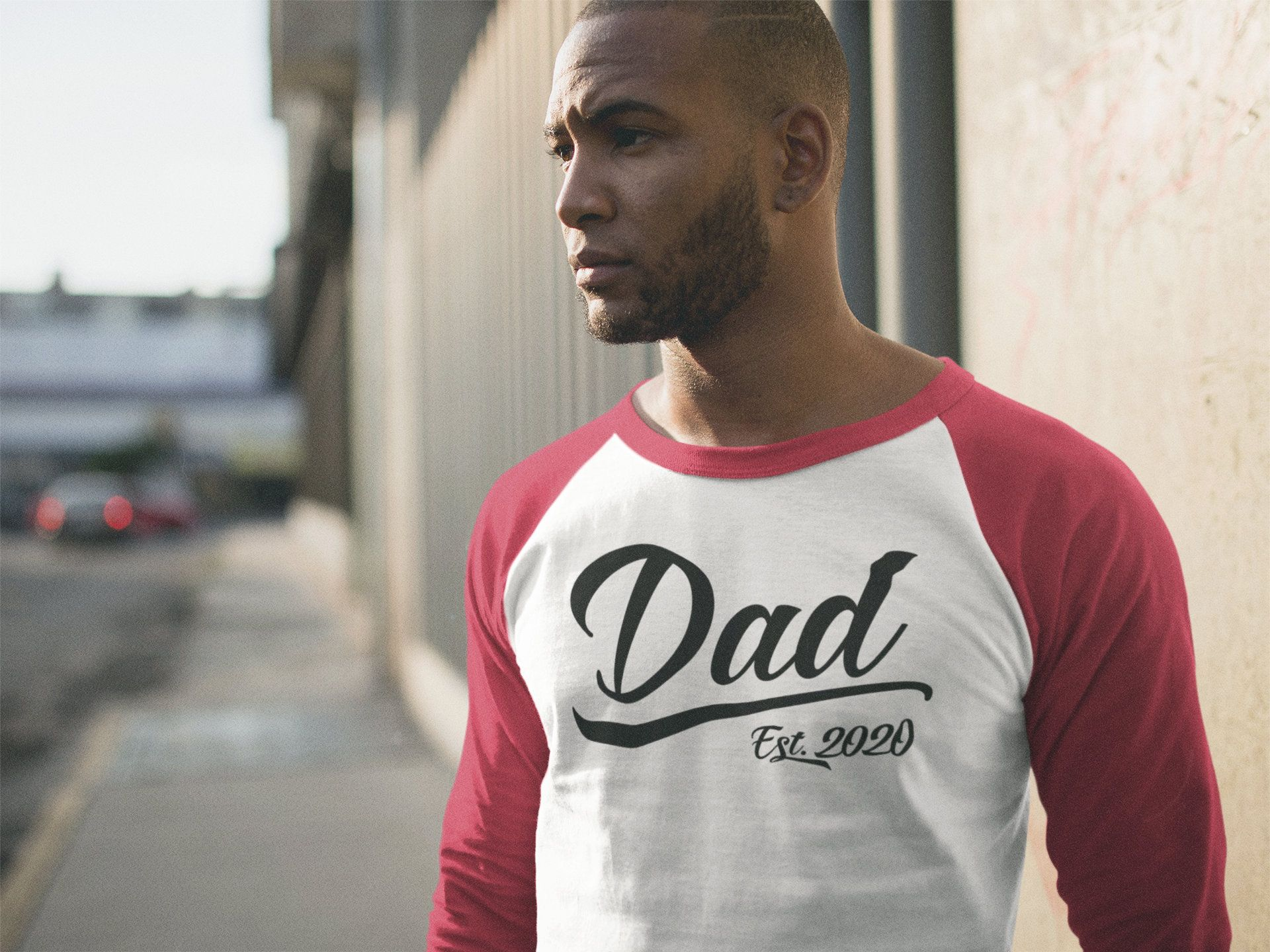 7a9b13cf Men's Dad Gift EST. 2020 T-Shirt New Baby Reveal Idea Gift Father's Day