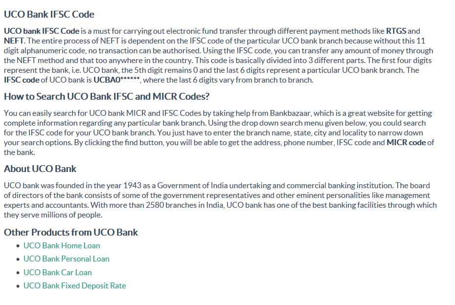 Uco Bank Ifsc Code Micr Code Addresses In India Bankbazaar Coding Bank Branch Method