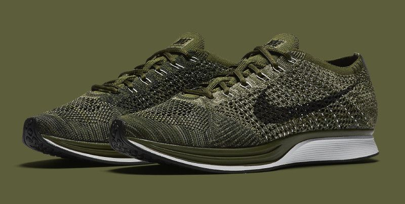 40bcdc87ca89 Nike Flyknit Racer Rough Green 862713-300