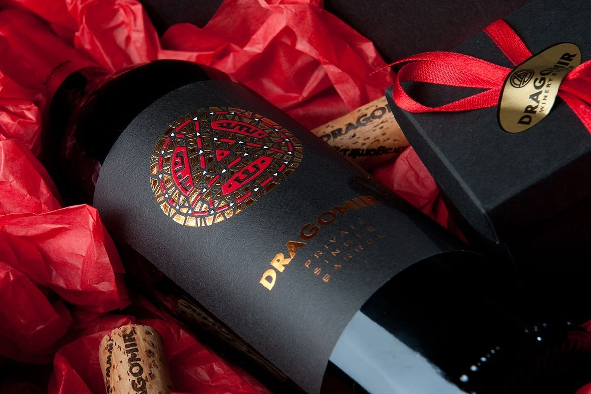 Dragomir Reserve Wine Label A Classy Contemporary Design Wine Label Wine Label Inspiration Wine