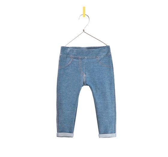 denim leggings from Zara   Zara kids, Zara, Denim leggings