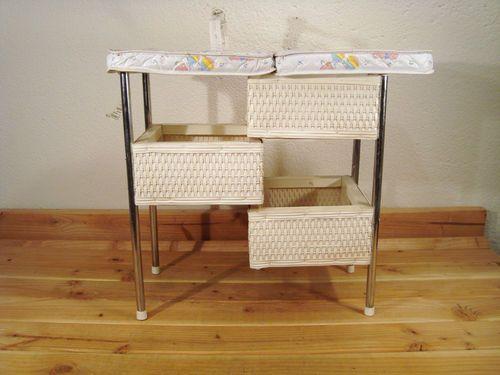 Vintage Badger Basket Wicker Baby Doll Folding Diaper Changing Table Via  Ebay
